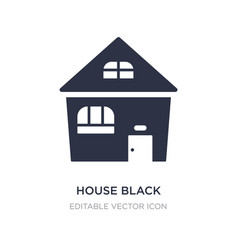 House black without door icon on white background vector