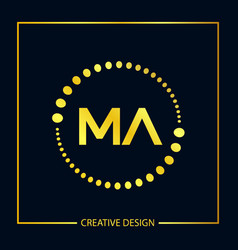 Initial letter ma logo template design vector