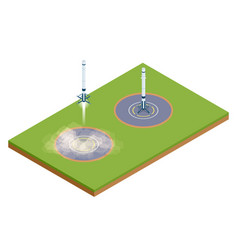 Isometric take-off and landing a rocket vector