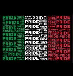 Italian flag pattern of pride text items vector
