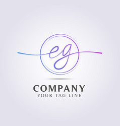 letter logo template for your business and company vector image