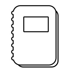 notebook icon outline line style vector image