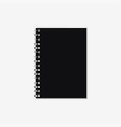 notebook mockup vector image