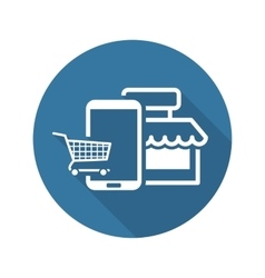 Online Shopping Icon Flat Design vector image vector image
