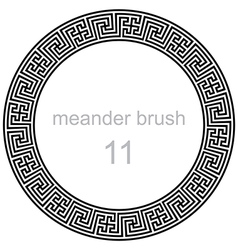 Pattern line ancient meander vector