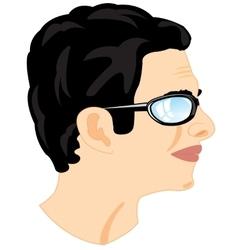 Person men in profile vector