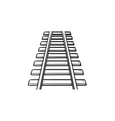 rails hand drawn outline doodle icon vector image