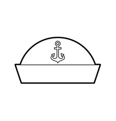 Sailor hat isolated icon vector