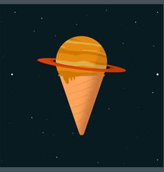 Saturn ice cream vector