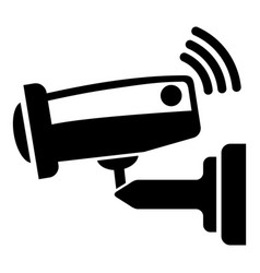 security camera icon simple black style vector image