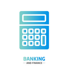 Shape design finance icon banking calculator vector