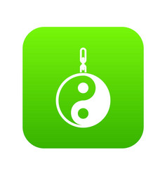 sign yin yang icon digital green vector image