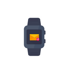 smart watch with incoming message icon on white vector image