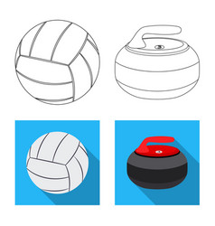 Sport and ball logo set of vector