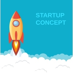 Start up concept flat style vector image