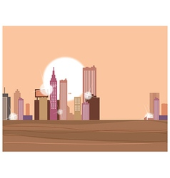 Sunset Metropolis vector image