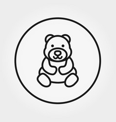 teddy bear universal icon editable thin vector image