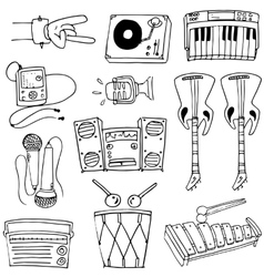 Theme music doodles art vector image
