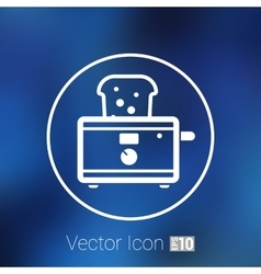 toaster icon isolated slice crust white snack vector image