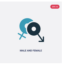 Two color male and female icon from shapes vector