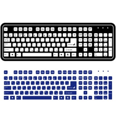 two different keyboard vector image