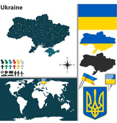 Ukraine map vector image