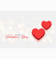 valentines day hearts bokeh background vector image