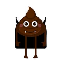 vampire poop emoji vector image