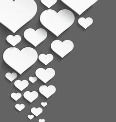 White heart border vector