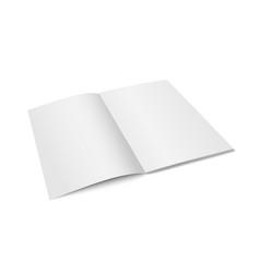 White mock up magazine isolated vector