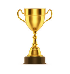 winner trophy or 3d cup for sport event vector image