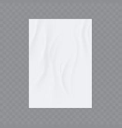 wrinkled paper realistic template vector image