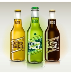 Beer set for St Patricks Day vector image vector image