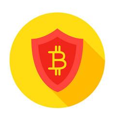 bitcoin secure circle icon vector image