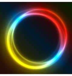 Colorful Glowing Rings eps10 abstract vector image vector image