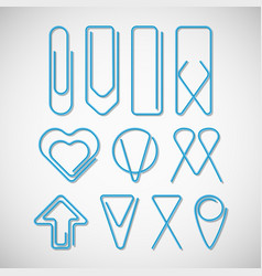 different of type paper clips collection vector image vector image