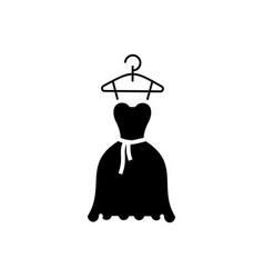 dress wedding - ball gown icon vector image