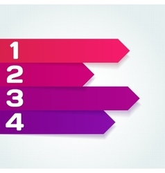 next steps arrows for presentations vector image vector image