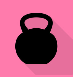 fitness dumbbell sign black icon with flat style vector image