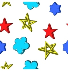 Kind of star pattern cartoon style vector image vector image