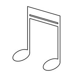 note music audio sound outline vector image