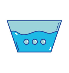 water pail design to clean clothes vector image