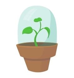 Greenhouse icon cartoon style vector image