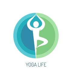 Yoga logo concept vector image vector image