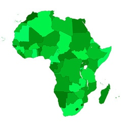 Africa contour map vector image