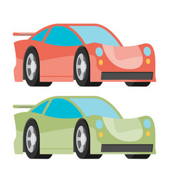 car icon fast racing automobile vector image
