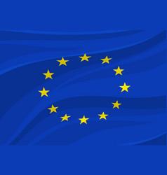 european union flag europe national symbol vector image