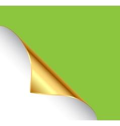 Golden paper corner vector image vector image