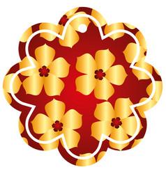 label flower chinese pattern flower sakura vector image
