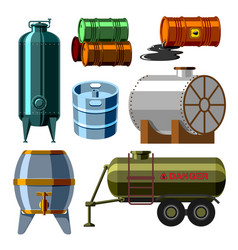 oil drums container fuel cask storage rows steel vector image vector image